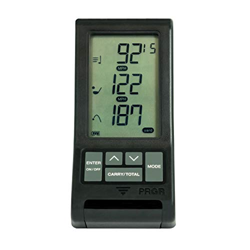 The PRGR Black Pocket Launch Monitor
